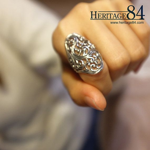 Handcrafted Silver Ring Men Women S Index Finger Ring Index