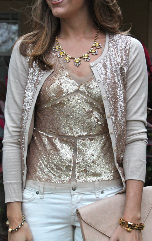 Today's Everyday Fashion: The Sequin Cardigan | Sequin cardigan ...