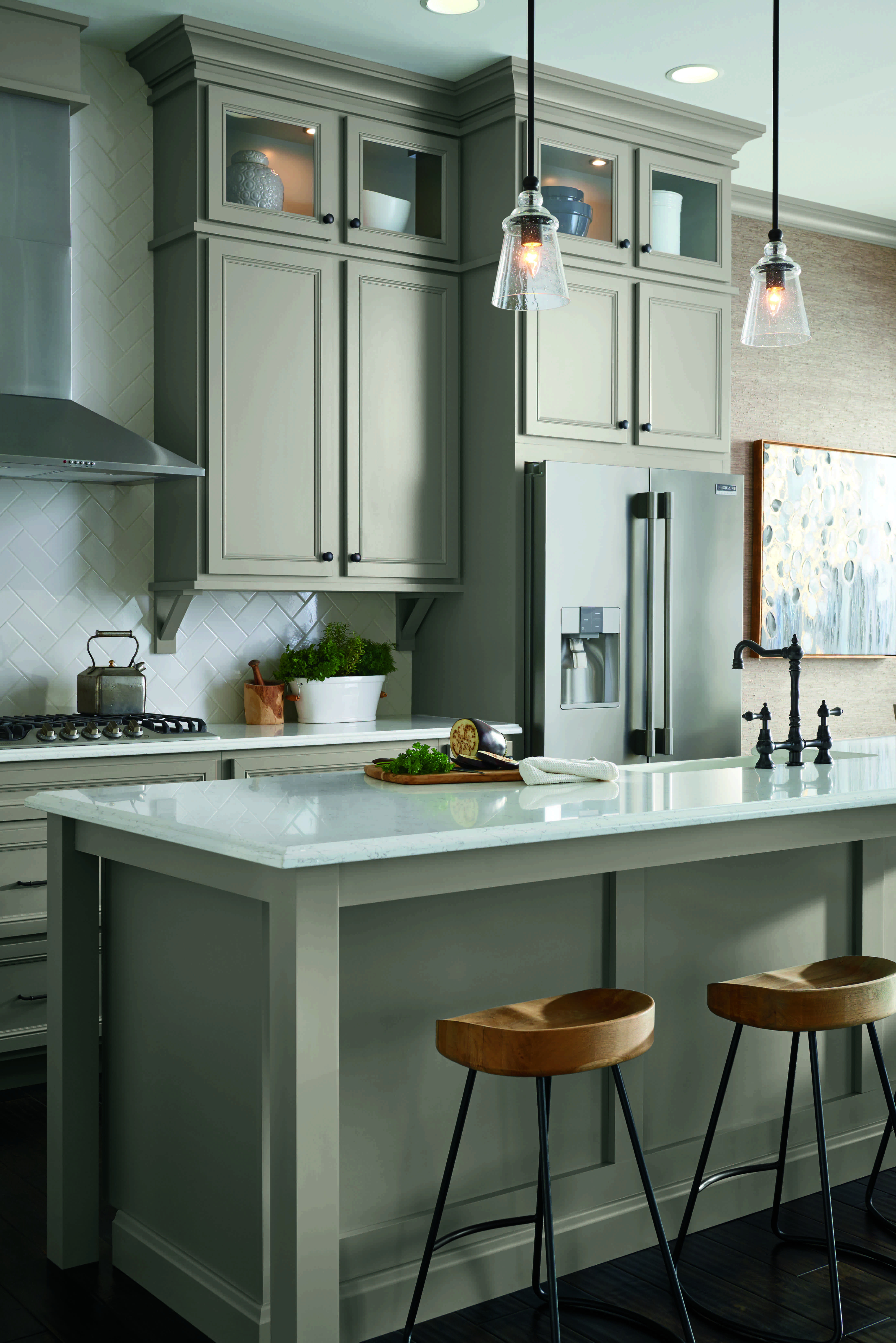 aristokraft kitchen cabinets blendtec mill introduces a trendy mid tone gray color for