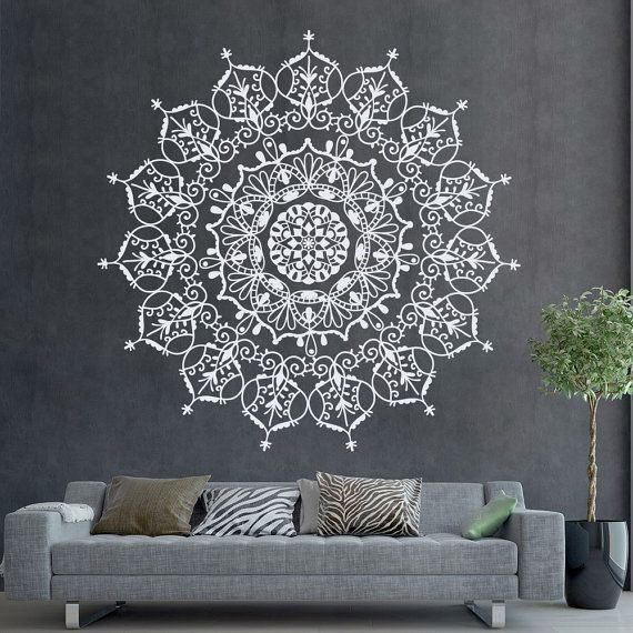 B hmischen indischen muster mandala wall decals florale for Innere design