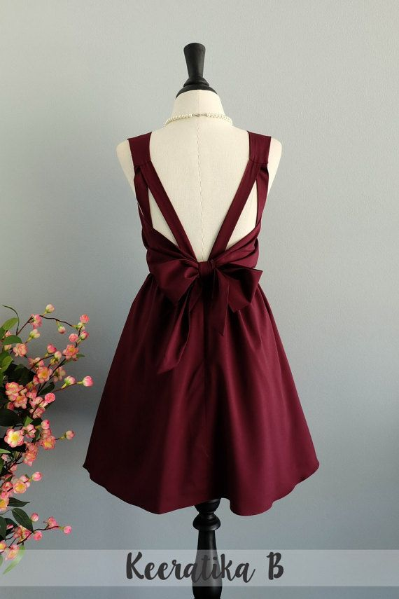 0e90512d0fa Maroon Red dress Red Bridesmaid dress Wedding Prom dress Cocktail ...