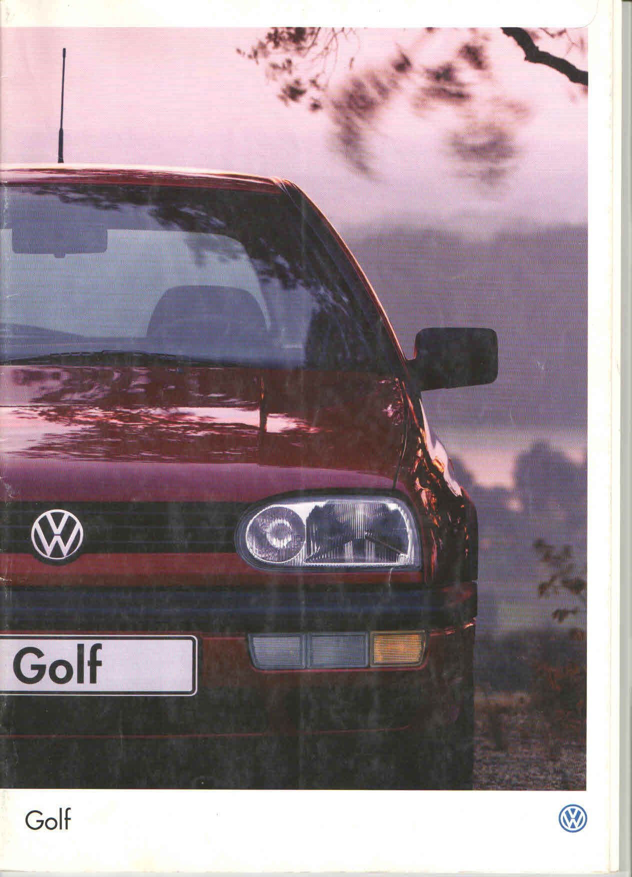 1996 Volkswagen Golf Mk3 Turkish Brochure Catalog Page 1 40