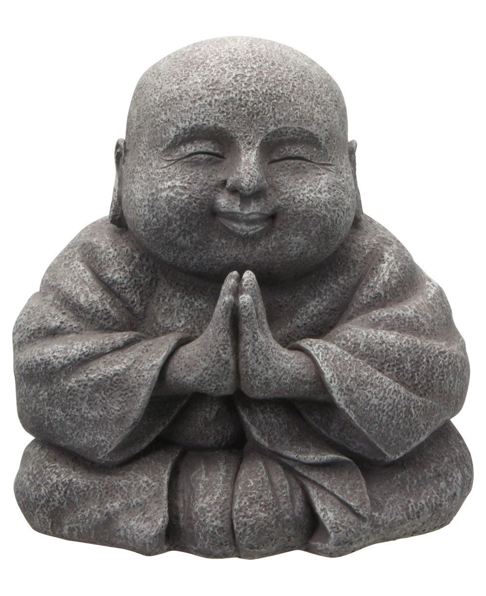 Praying happy buddha statue 8 inches buddha and gardens happy buddha likeness is symbolic of joy mirth and contentment and it is said that rubbing the head or belly of a happy buddha statue brings good luck and biocorpaavc Choice Image