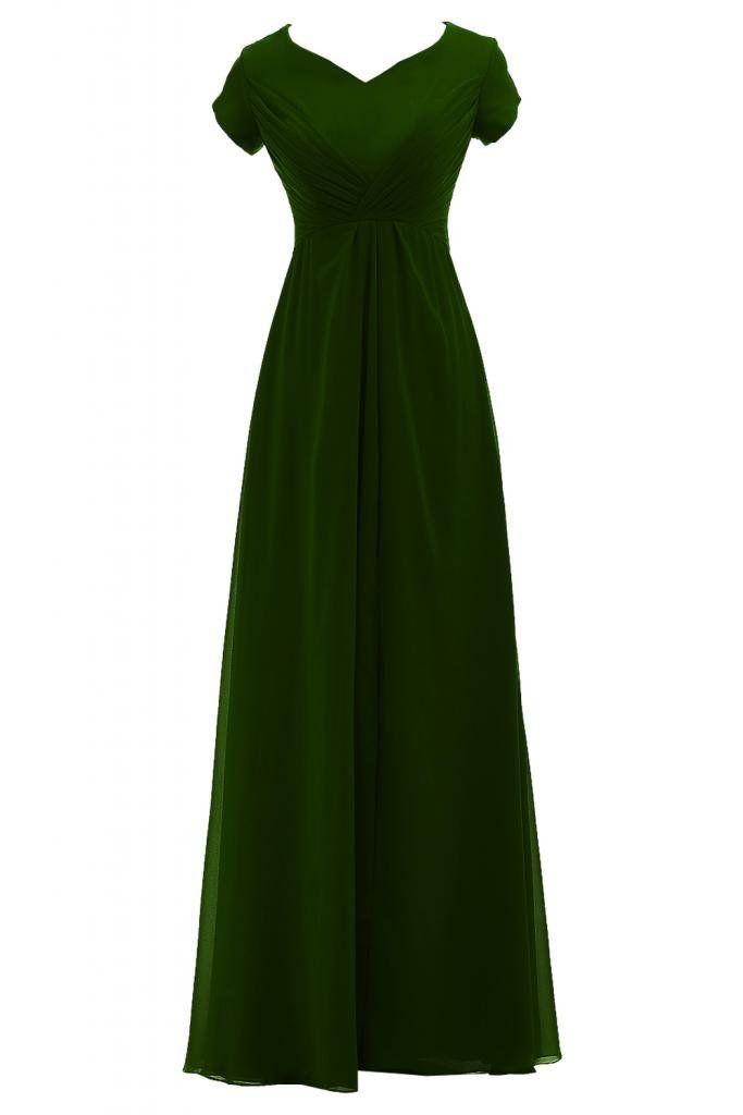 Chiffon-Kleid, grün   Chiffon kleid, Kurze kleider ...