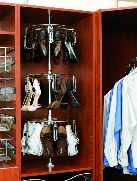 California Closets DFW Shoe Storage   Rotating Shoe Rack