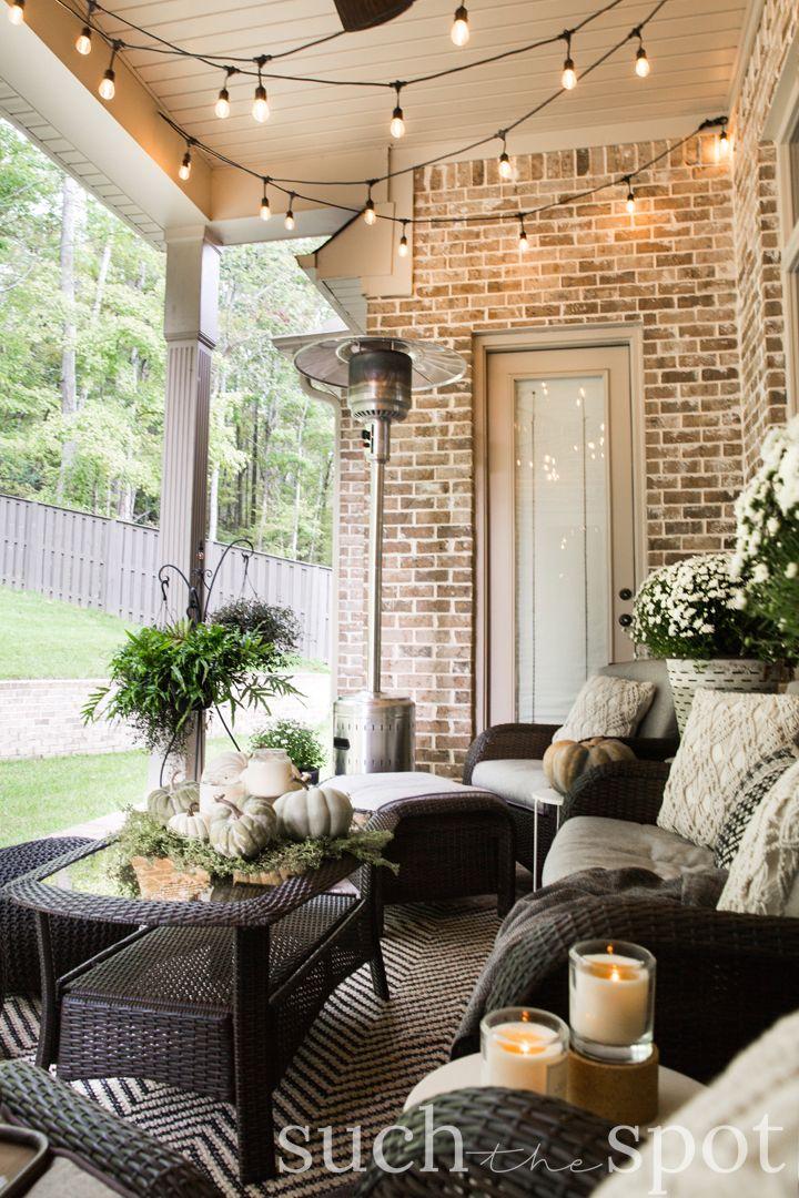 COZY FALL PATIO -   24 outdoor decor patio ideas