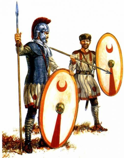 Infantryman and a skirmisher of the late Roman Empire.