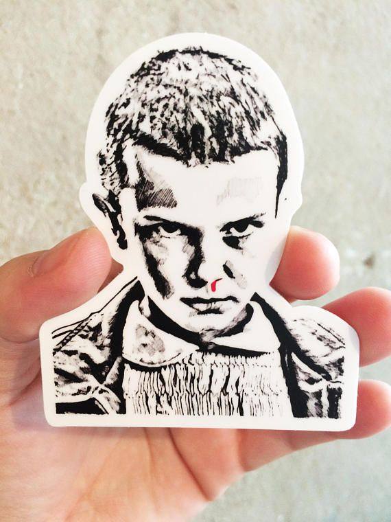 Eleven die cut sticker laptop sticker hardhat sticker guitar sticker skateboard sticker die cut vinyl sticker