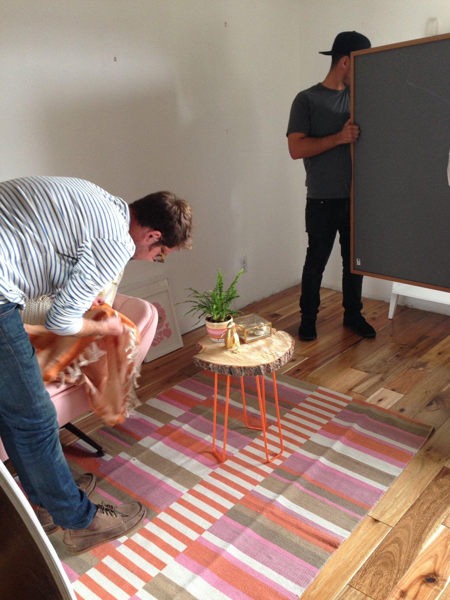 DIY Tree Slab Side Table with Hairpin Legs | Tree slab ...