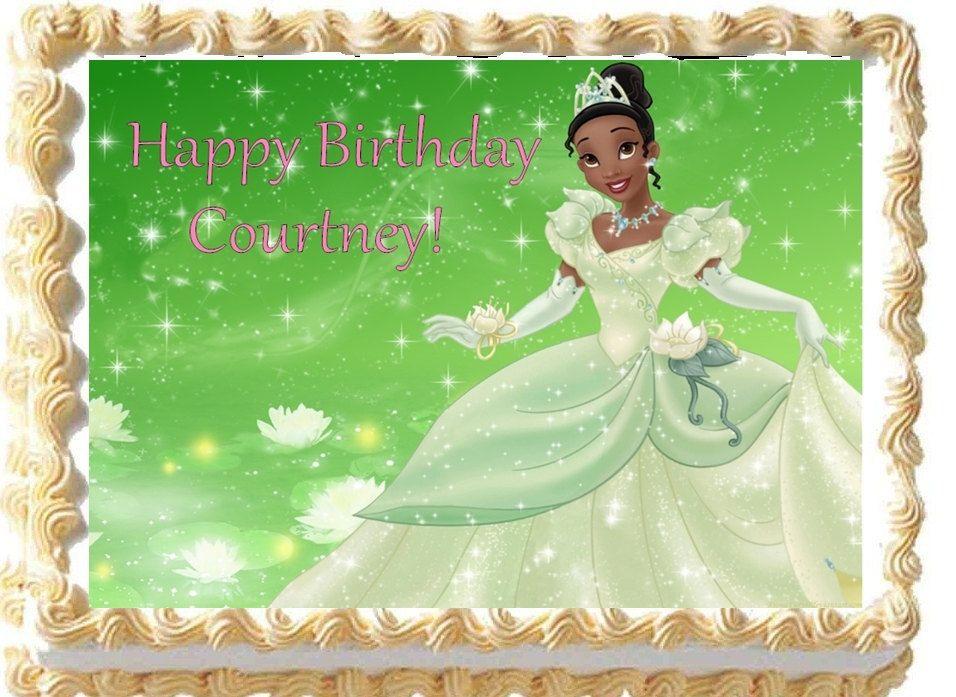 Edible PRINCESS TIANA Princess and the Frog Edible Image Cake