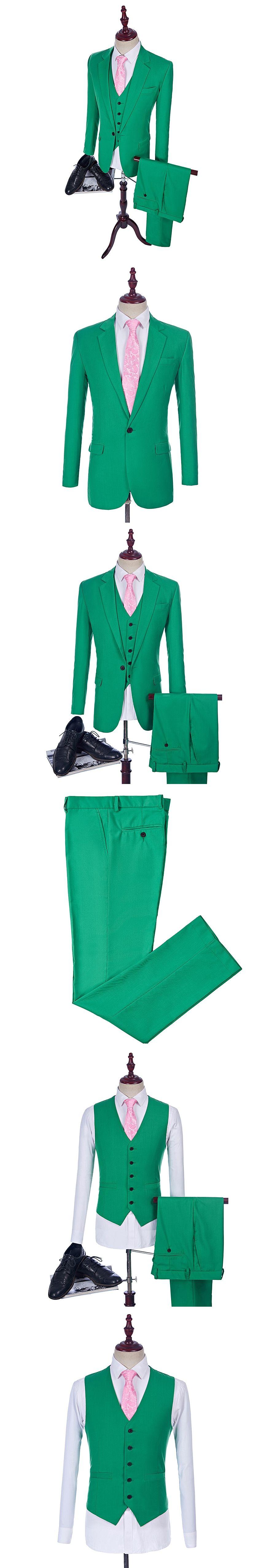 HB013 Aliexpress Green Wedding Tuxedo Custom Made Man Suits As Groom ...