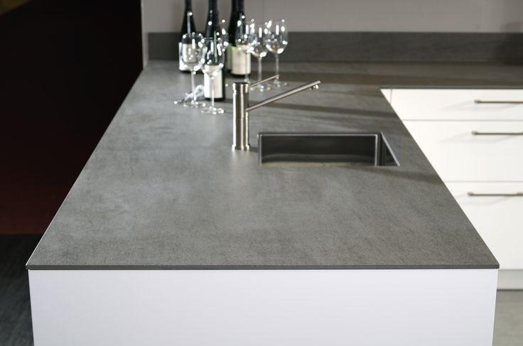 Keramiek werkblad betonlook google zoeken kitchen for Werkblad keuken keramiek