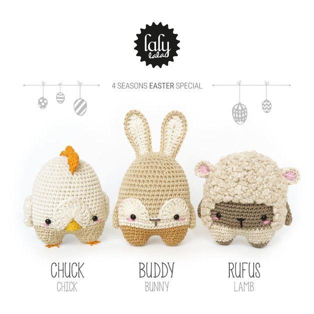 lalylala 4 seasons PASCUAS • patrón de crochet | Patrones de crochet ...