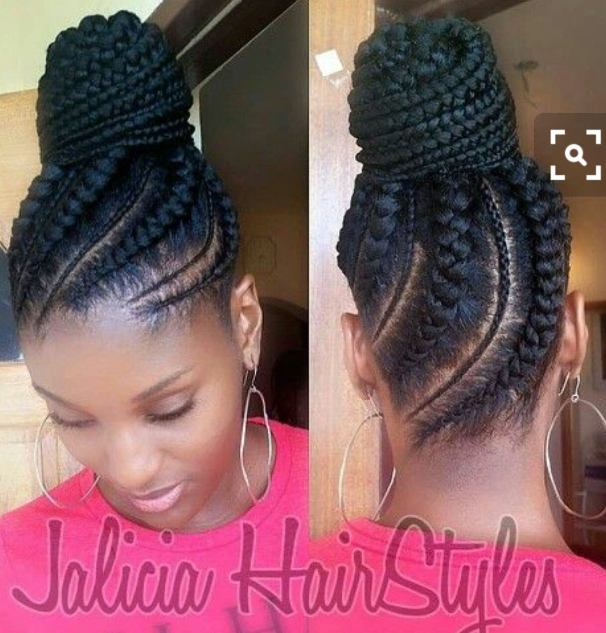My Next Hairstyle Only The Back Natural Hair Styles Braided Bun Hairstyles Hair Styles