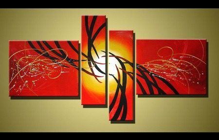 cuadros modernos abstractos color art drawing art and triptych