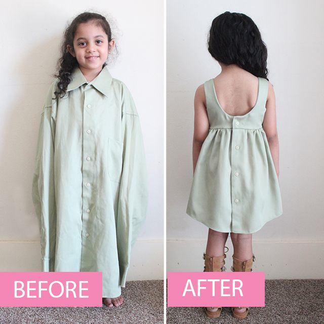 d2a3f144f7 How to Create a LINED toddler dress from an Adult Shirt