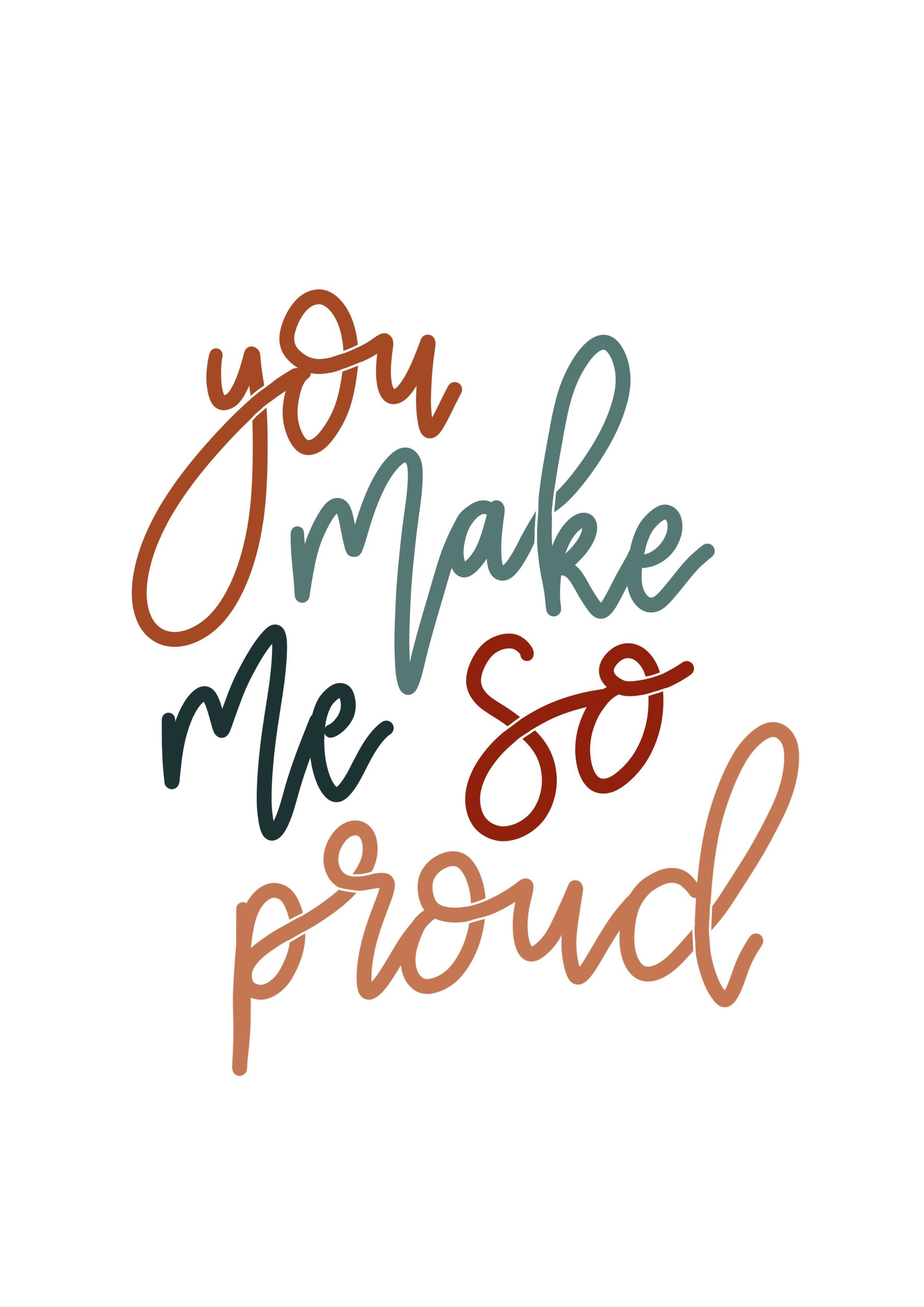 You Make Me So Proud Card Hand Lettered Encouragement Card Etsy Proud Of You Quotes Daughter Proud Of You Quotes Proud Quotes