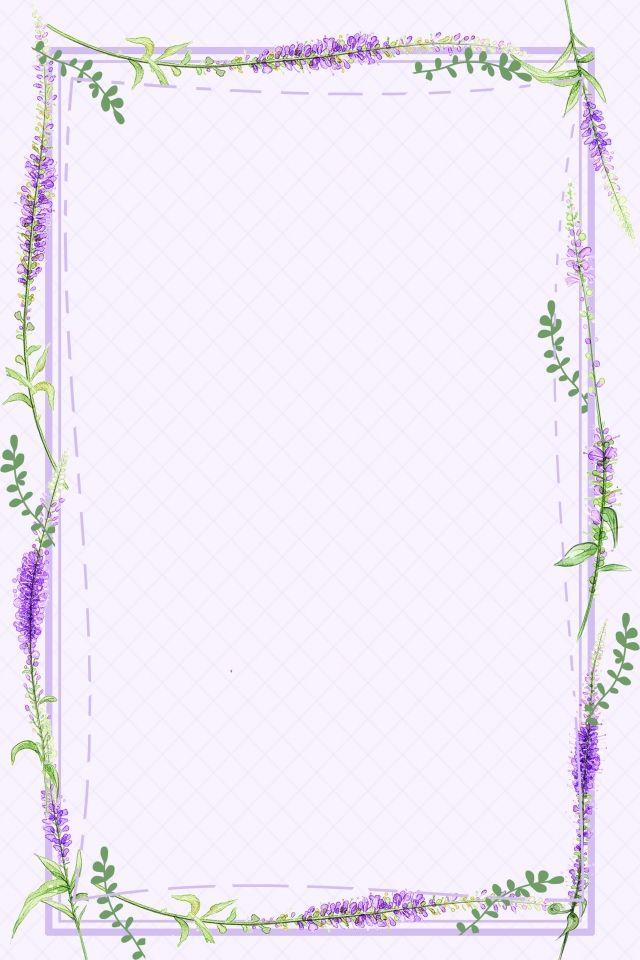 Lavender Purple Flower Border Background Flower Background Images Flower Background Wallpaper Purple Flowers