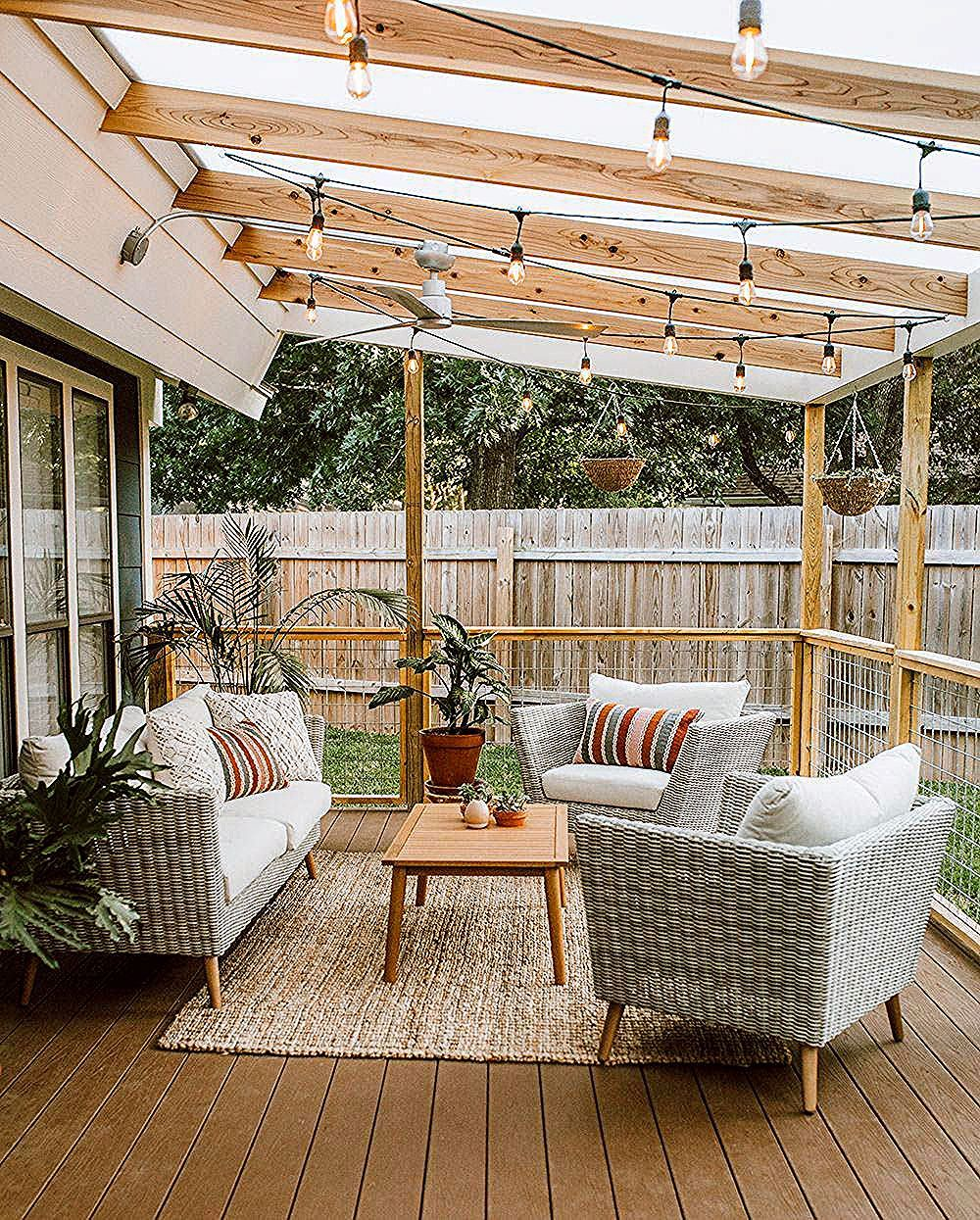 Patio Ideas - Enhancing your patio can be difficult, but we have you covered. From lights to outdoor seats to fire pits, below are the most effective exterior patio ideas to motivate your patio ... #patioideas #gardendesign #patioideaspinterest