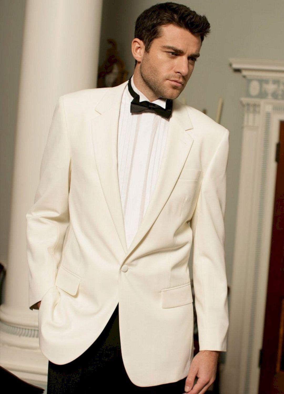 40+ Charming White Groom Tuxedo Wedding Jacket Ideas | Groom tuxedo ...
