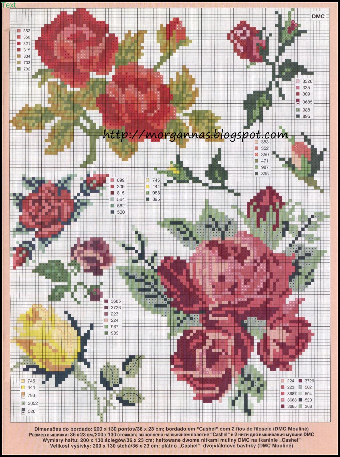 Gráfico Ponto Cruz - Flores