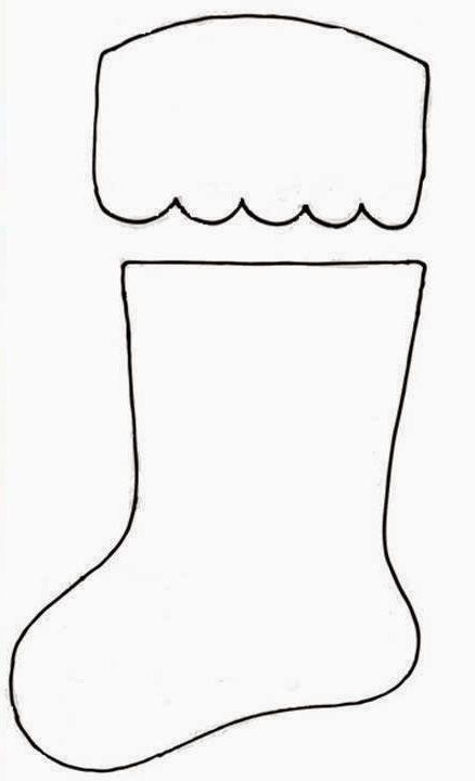 Patron calcetin para cubiertos en navidad botas de - Calcetin de navidad ...