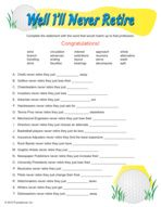 photo relating to Retirement Party Games Free Printable identified as Retirement Occasion Video games Mamas Retirement Bash