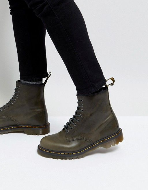 quite nice 100% top quality huge sale Dr Martens 1460 8-eye boots in dark taupe in 2019   Shoes ...