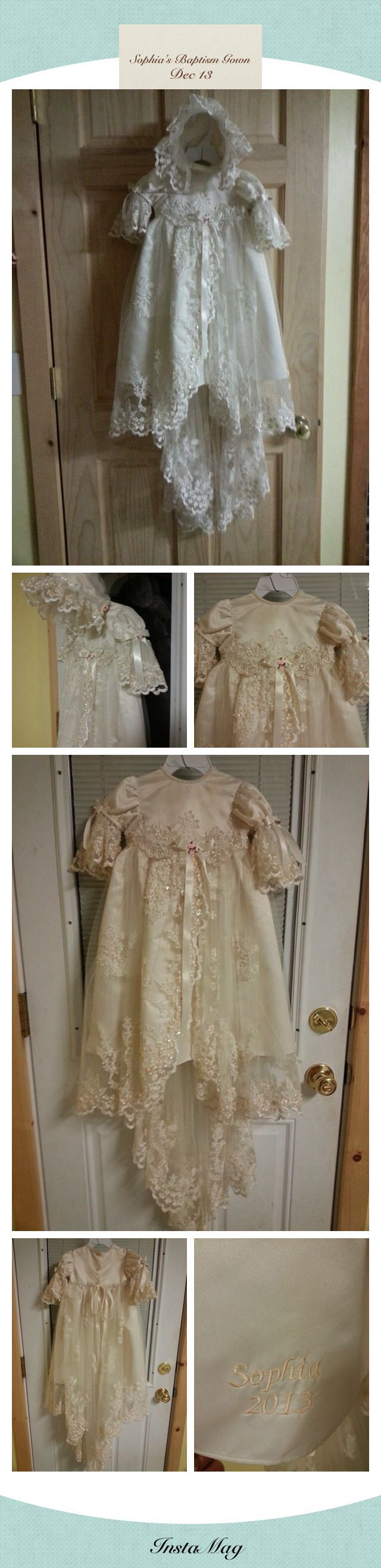 My wedding gown turned into a baptism / christening gown for my granddaughter…
