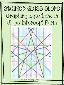 Stained Gl Slope Graphing Equations In Intercept Form Activity This Is A Great That Goes Beyond The Worksheet