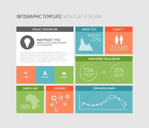 infographic template elements 02 | 1 | pinterest | infographic, Modern powerpoint