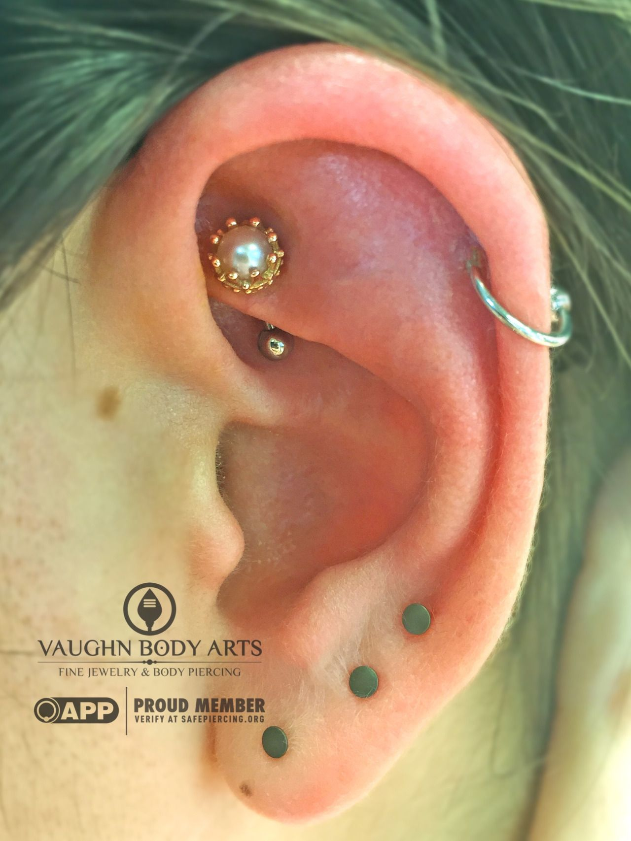 This Rook Piercing Adam Did For Joy Is Simply Stunning Joy Picked Out A  Lovely