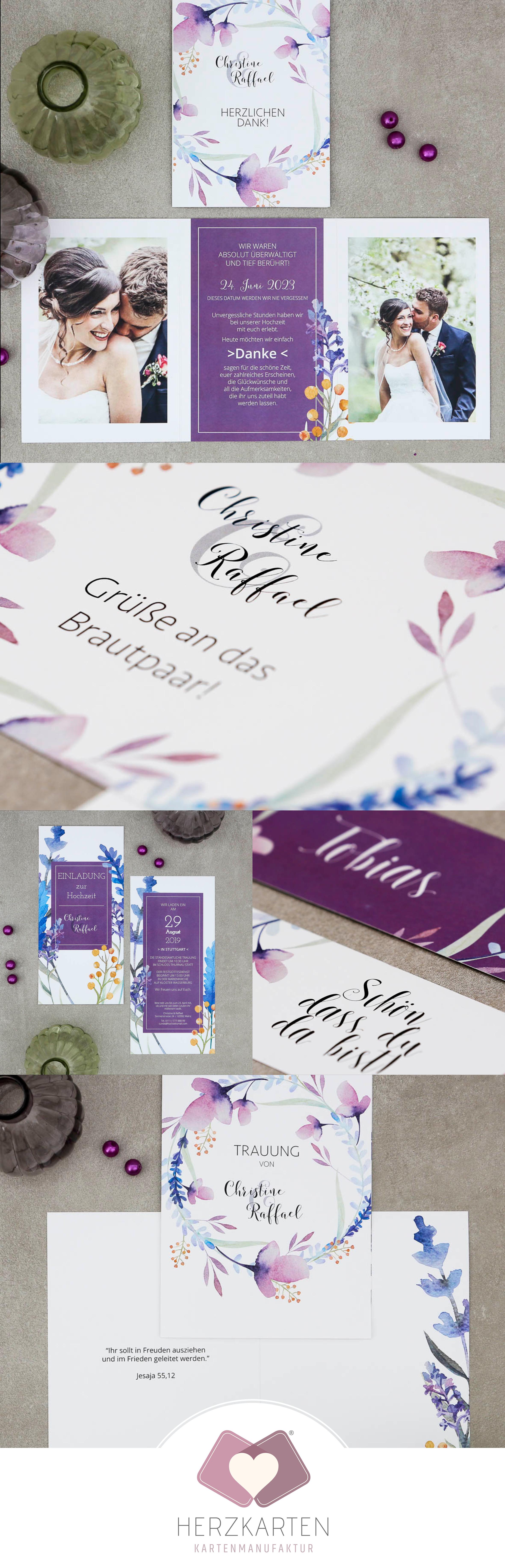 Hochzeits Papeterie Mit Lavendel Konzept Papeterie Hochzeit