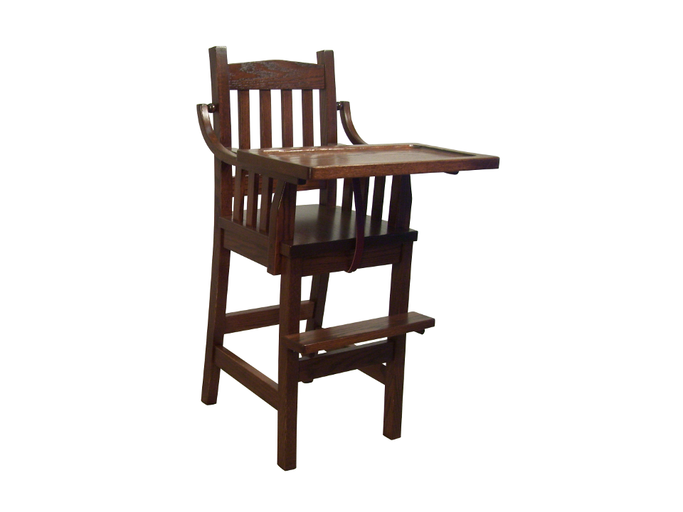 Mission High Chair Foothills Amish, Foothills Amish Furniture