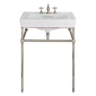 Porcher 24548 00 001 Lutezia 28 Console Lavatory Kit White Traditional Bathroom Sinks Small Bathroom Sinks Traditional Bathroom