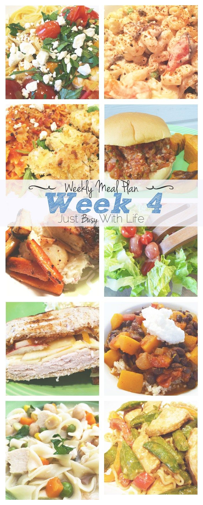 Weekly Meal Plan - Week 4