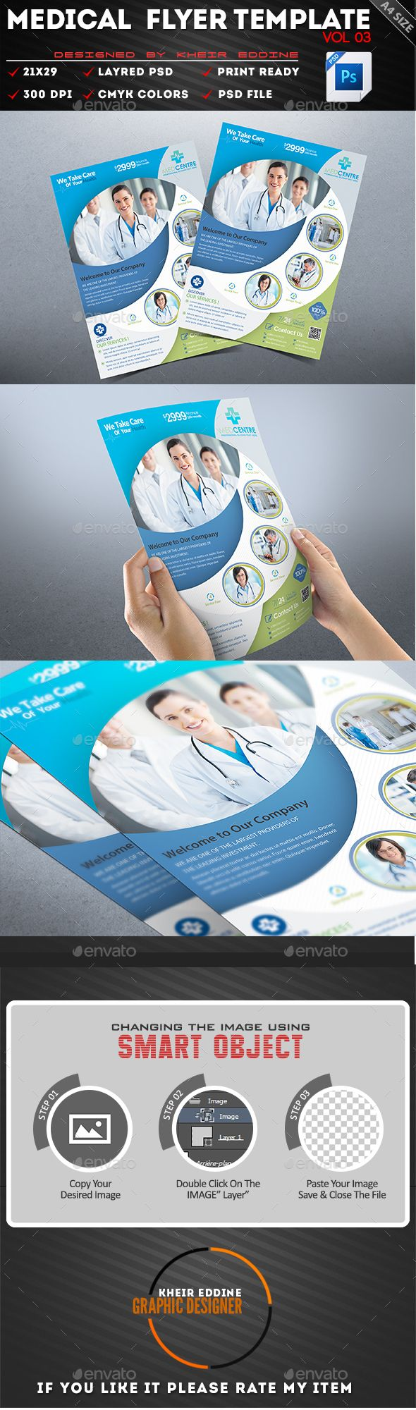 Download Free Graphicriver Medical Flyer Template Vol 02