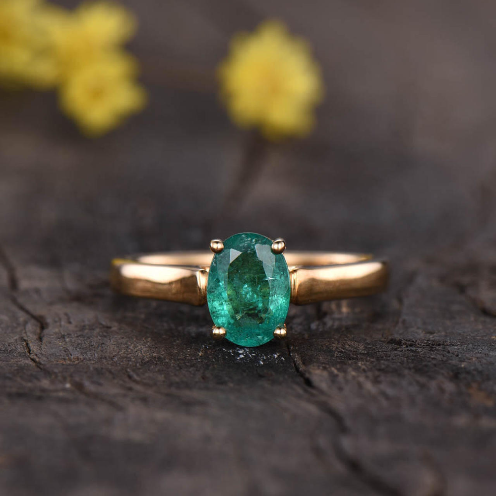 Personalized Ring Custom Ring,Gift For Her Wedding Ring 925 Sterling Silver Ring Natural Emerald Ring Emerald Unique Ring Vintage Ring