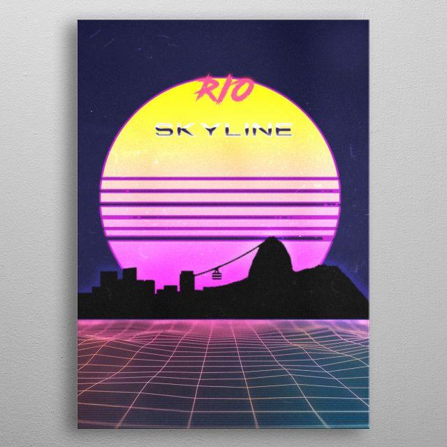 RIO by FARKI15 DESIGN | metal posters - Displate | Displate thumbnail