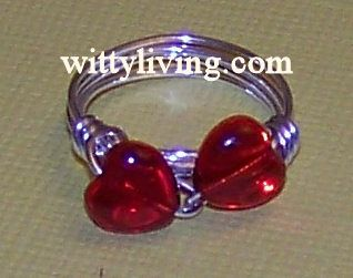 wire wrapped ring beaded hearts project instructions finish