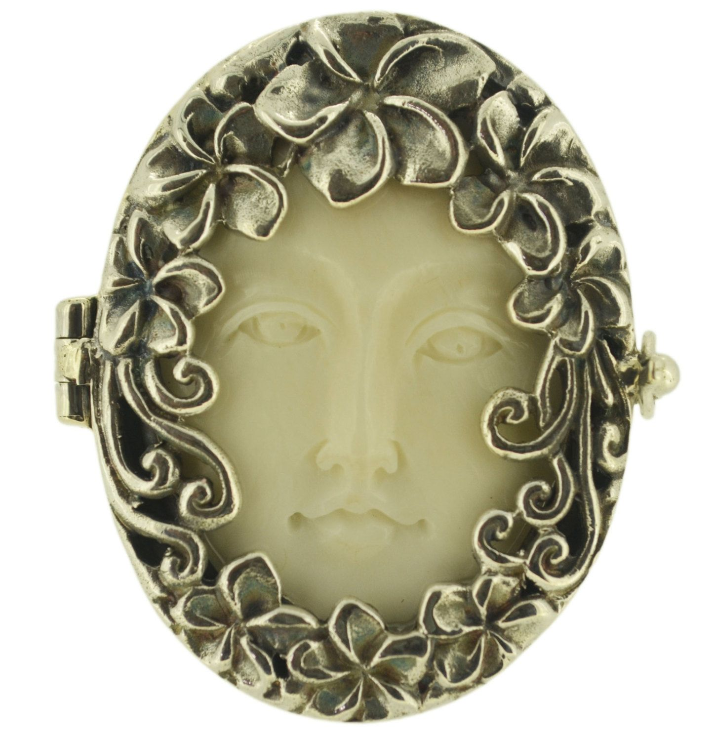 Art Nouveau Goddess Face and Sterling Silver by SophieFancyShop, Ft12,500.00