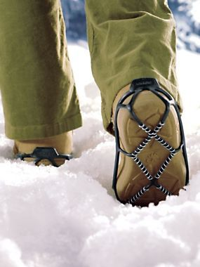 Yaktrax Walker - You'll feel safer walking on snowy, icy streets and sidewalks in Yaktrax. They slip over your shoes or boots and grip packed snow and ice to help prevent a fall.