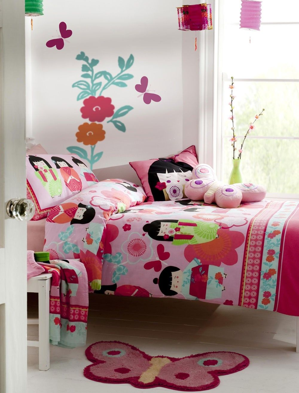 Answer girls asian theme bedding pity