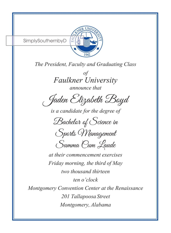 Formal College Graduation Invitations Graduation Invitations