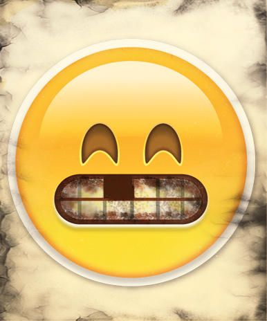 Image of emoji with tooth missing | Dangers of Smoking