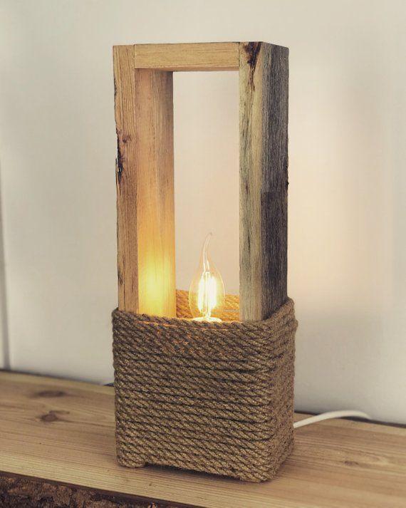 Altholz Tischlampe 40cm in 2020 Altholz stehlampe, Holz
