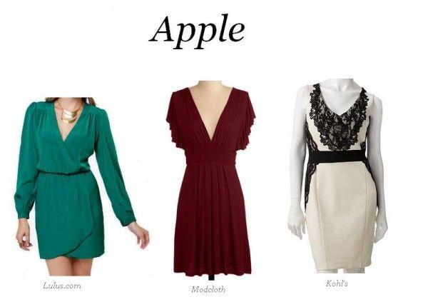 Apple shaped dress styles