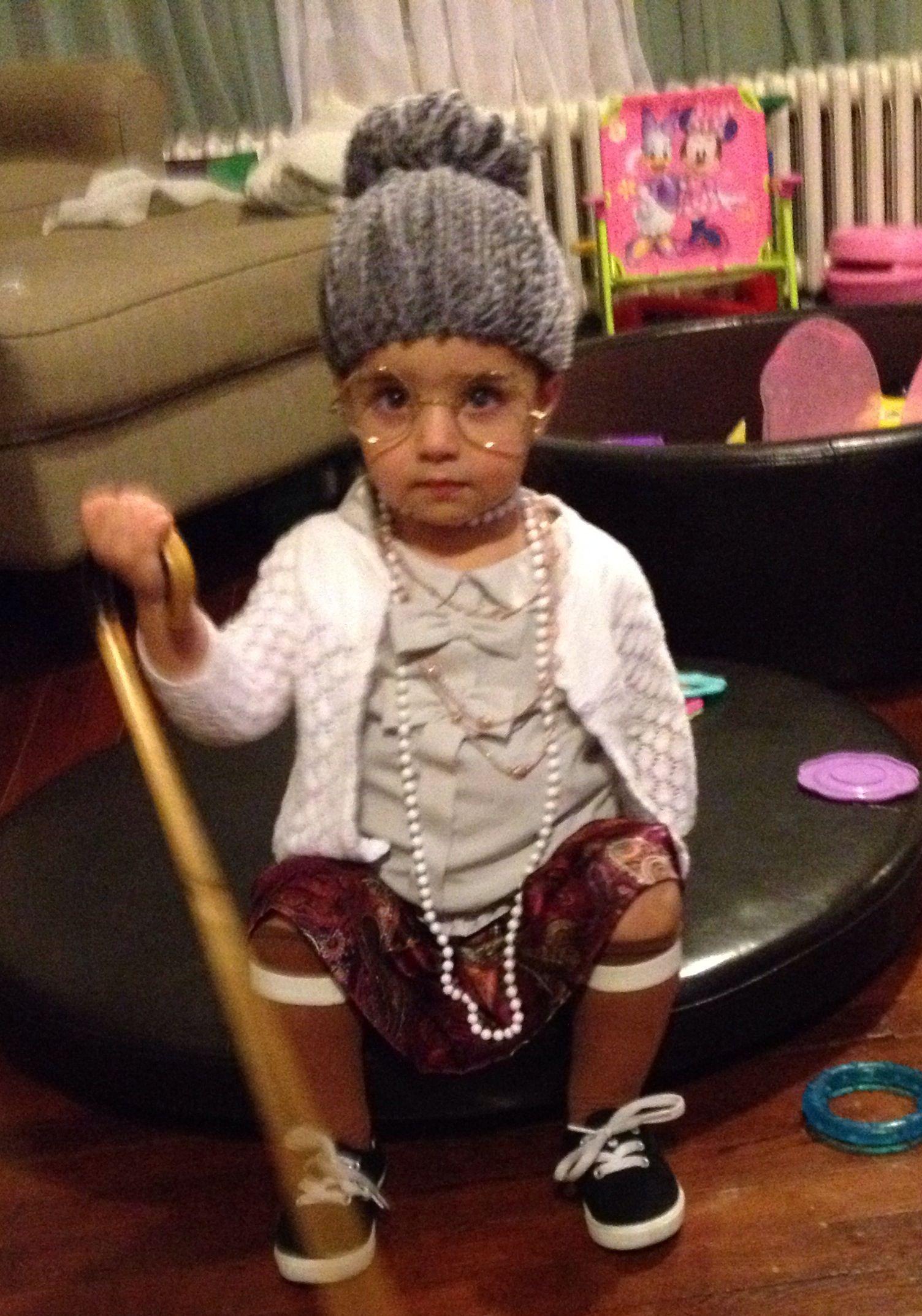 Old Lady Costume Halloween Crochet Wig Baby Mya Z