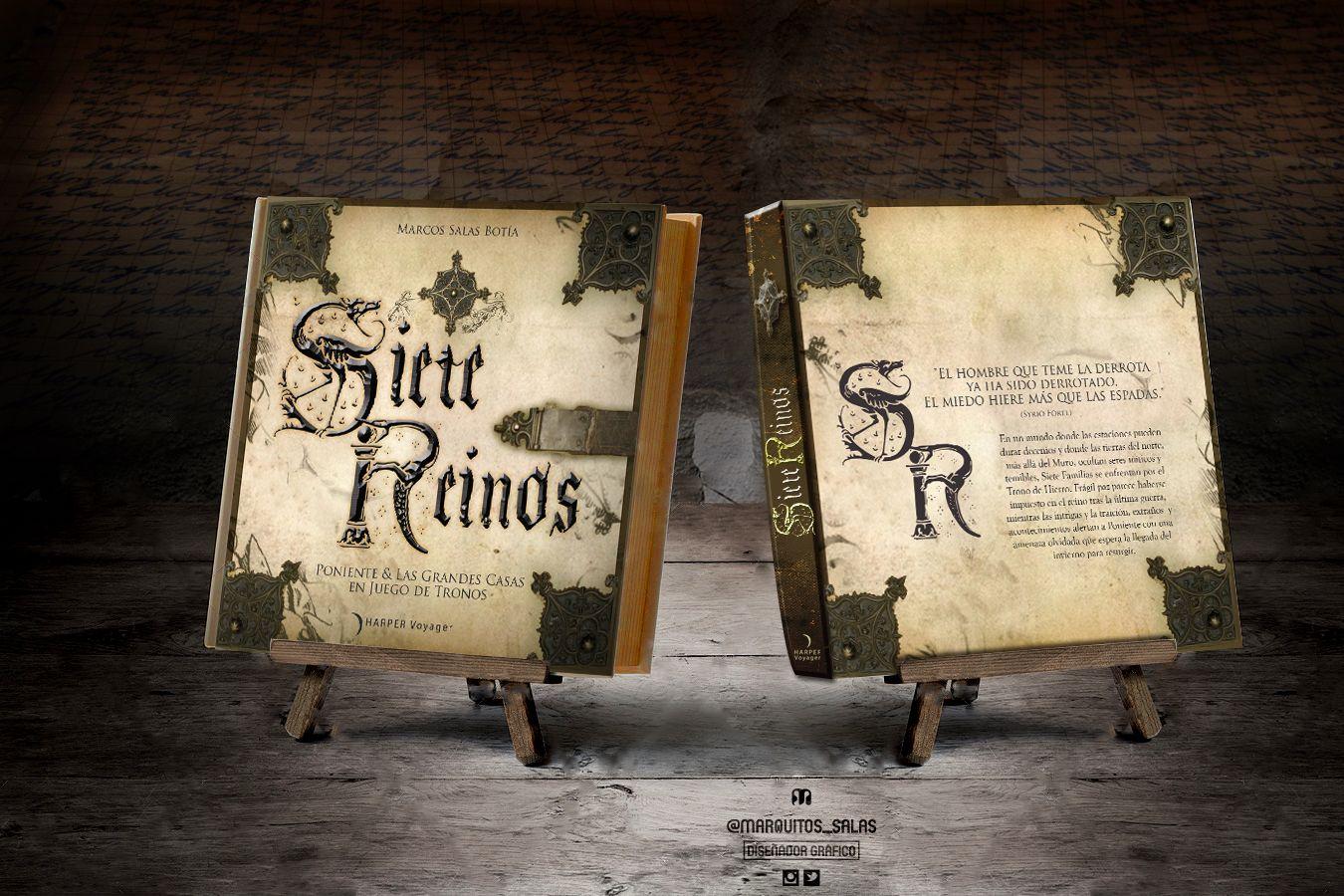 Cubierta, lomo y contra cubierta de Siete Reinos, el libro de las ...