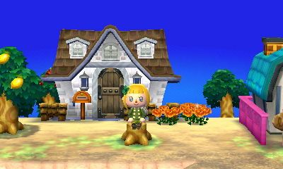 Sitting On A Tree Stump In Front Of My House Animal Crossing
